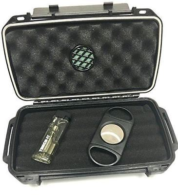 Sigara Private Collection Cigar Travel Humidor Cutter Single Torch Cigar Gift Se
