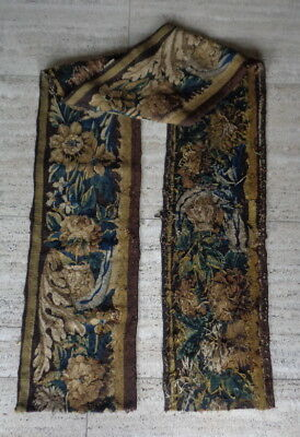 Aubusson Tapisserie,antik,Frankreich 1750,Antique French Tapestry Border Panel
