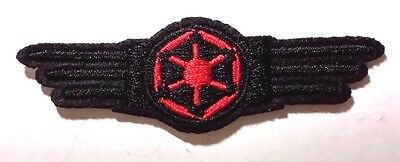 """Star Wars Imperial Cog Wing Logo- 3"""" Red & Black  Patch- USA Mailed (SWPA-FC-15)"""