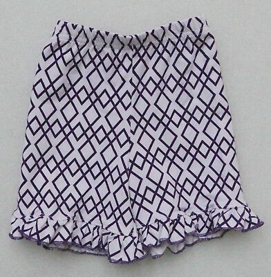 ISHTEX TARA COLLECTION LOT of 24 PAIR GIRL'S RUFFLED SHORTS PURPLE WHITE