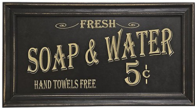 Vintage Bath Advertising Wall Art Sign Plaque Home Bathroom Accent  Decoration
