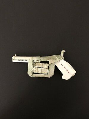 Origami Mini revolver made of real money, unique looking for display or gift!