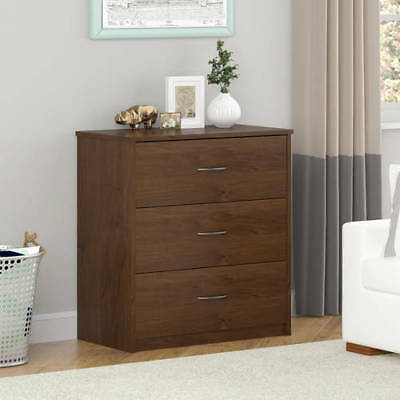 Dresser 3 Chest Of Drawers Furniture Small Bedroom Organizer Storage Brown  Oak