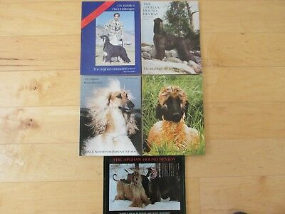 The Afghan Hound Review Mags, 1980 5 Issues, Missing Mar/Apr