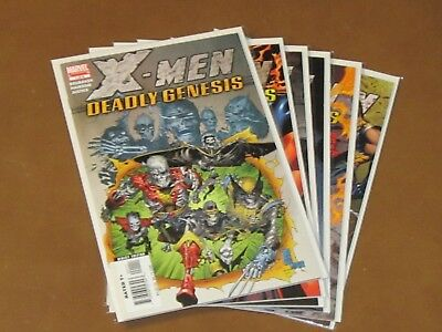 X-Men Deadly Genesis #1 - 6 Vf/nm Complete Set 1St App Of Vulcan Cyclops Brother