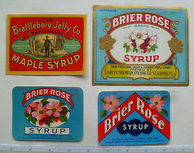 23  DIF. VINTAGE VERMONT MAPLE OR OTHER  SYRUP LABELS - EARLY 1900s+  - NOS