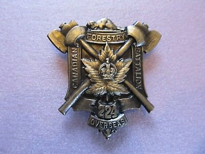 CEF 224th Canadian Forestry Battalion Cap badge