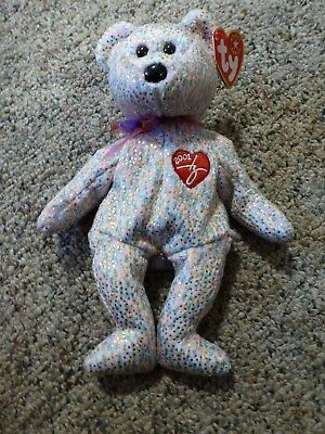 TY Beanie Baby - 2001 SIGNATURE BEAR (8.5 inch) -  Stuffed Animal Toy