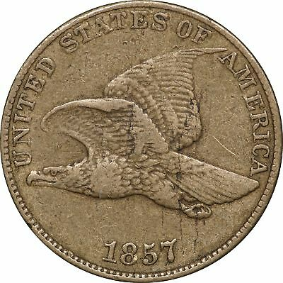 1857 P Flying Eagle Cent, VF, 1C Very Fine