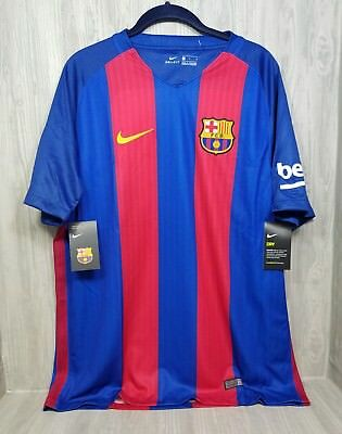 451e831a71d NIKE FC BARCELONA HOME SOCCER JERSEY NIKEDRY 2016 SIZE LARGE 90$ Tags  Red/blue