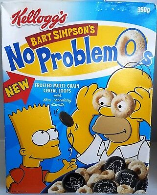 New in Box! Bart Simpsons No Problem-O's Kelloggs Cereal Limited Edition UK ONLY