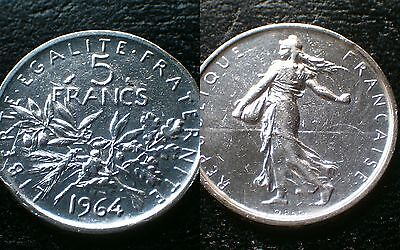 France / 1964 - 5 Francs / Silver Coin