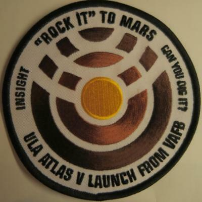Atlas V Insight Mission To Mars Space Mission Patch Free Shipping