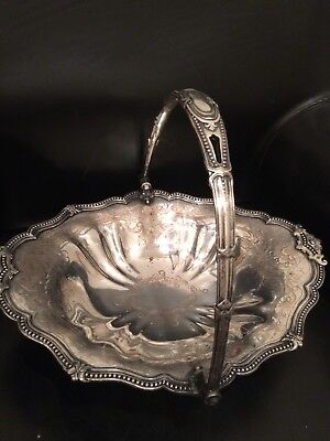 Old Sheffield ~ JAMES DIXON & SONS SERVING BASKET ~ Silver Plate