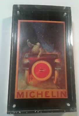 Neat Michelin Tires Lucite Paper Weight With Michelin Man Neat Thick Advertising