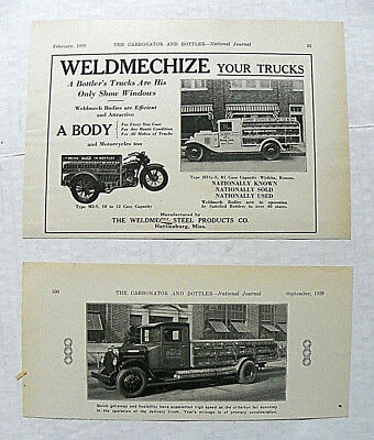 "(Lot 2)1930,feb Carbonator & Bottler Jrl~""coca-Cola"" Weldmech Motorcycle & Truck"