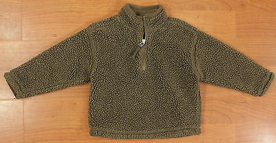 "GAP Youth Girls Boys XXS 3 - 4 Grey-brown sweater half zip pull over ""faux wool"""