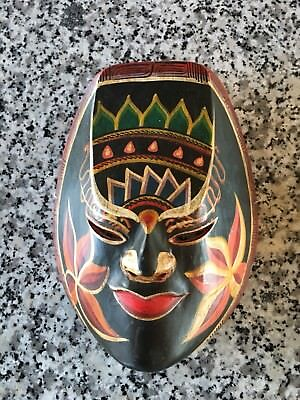 Carved Wooden Mask, Hand Painted, Bali,Indonesia
