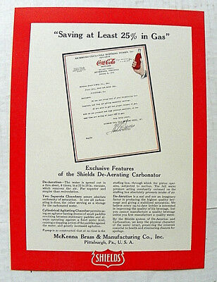 1928 Shields De-Aerating Carbonator Sale Piece~ Letter From Richmond C. C. B. W.