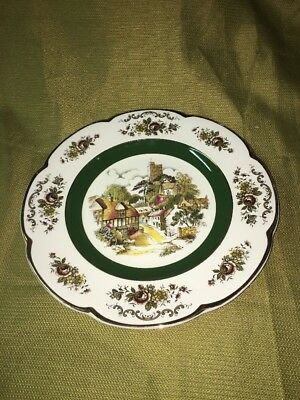 "Ascot Service 10 1/2"" plates by Wood and Sons-alpine white ironstone One Plate"