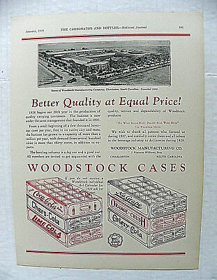 "1928,jan. Carbonator & Bottler Journal ~ Woodstock ""coca-Cola"" 24 Bottles Cases"