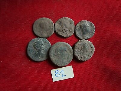 Ancient Roman coins LOT of 6 - Sestertius / Dupondius / AS -UNCLEANED COINS .82