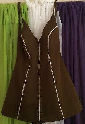 Vintage Cole Of California, Brown One Piece Swimsuit, Size 14