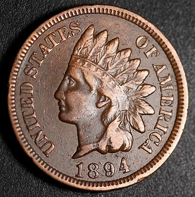 1894 INDIAN HEAD CENT - With LIBERTY - VF VERY FINE+