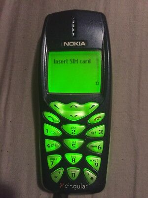 Nokia 3590 cell Phone blue navy w/ charger