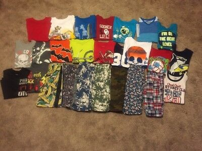 Boy's 26 Piece Lot ofSummer Clothing Size 10/12 (GUC) TCP
