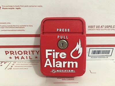 *RARE* Notifier LNG-1R Fire Alarm Pull Station Red Dual Action UL
