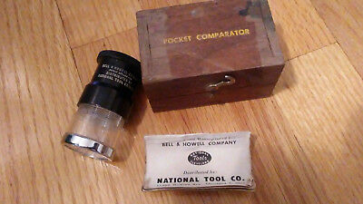Pocket Comparator. Bell &Howell National Tool Co. VINTAGE