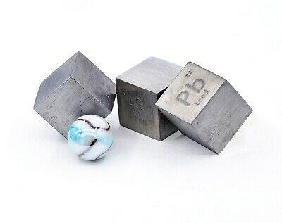 Lead Metal 1 Inch 25.4mm Density Cube 99.95% Pure for Element Collection