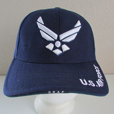 e805026ad9a Baseball Style Blue U.S. Air Force USAF Adjustable One Size Strap Back Hat  Cap