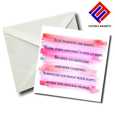 Stay Positive And... Inspirational Quote Magnet for refrigerator. Great Gift!