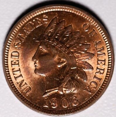 1906 INDIAN HEAD CENT - BU MS UNC - With CARTWHEELING MINT LUSTER!