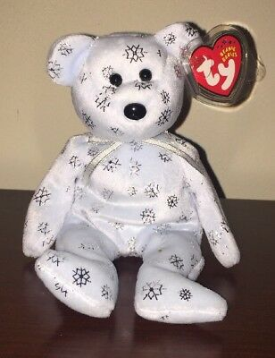 TY Beanie Baby - FLAKY the Snowflake Bear (8.5 inch) - MWMTs Stuffed Animal Toy