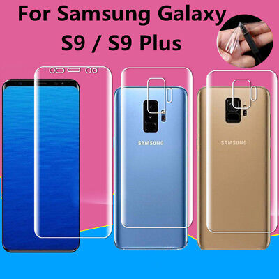 HD Full Cover TPU Front Rear Screen Protector Film For Samsung Galaxy S9 / + Lot