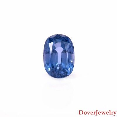 Certified Loose 3.28ct Oval Cut Natural Violetish Blue Sapphire Stone NR