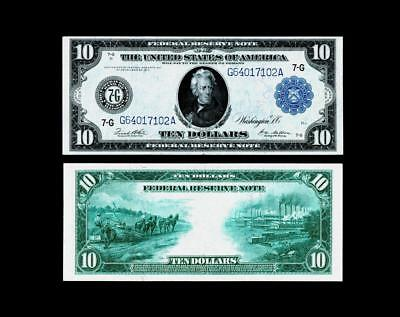 Fr. 931a  $10 1914 Federal Reserve Note~~~~ ALMOST UNCIRCULATED