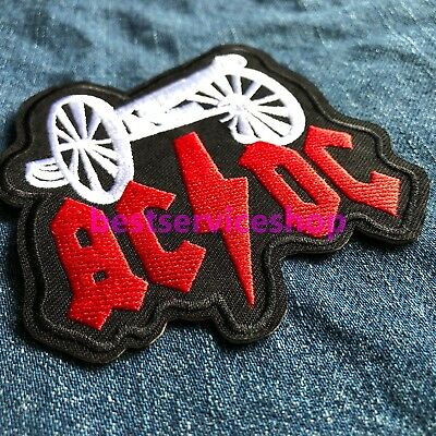 AC/DC Big Gun Logo Song Single Rock Band Embroidered Iron Sew On Patch DIY tee