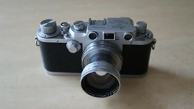 Leica Drp Ernst Leitz Wetzlar With Lens And Leather Case