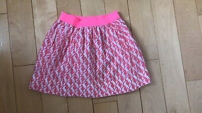 Crewcuts Girls Spring/Summer lined Skirt Size 3T Seahorses pink