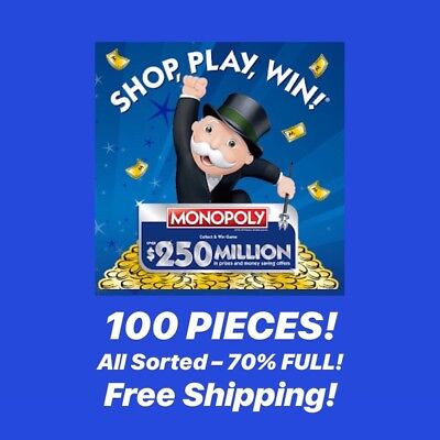 Monopoly Game Markers Lot – 100 Pieces – grocery store rare vons safeway kroger