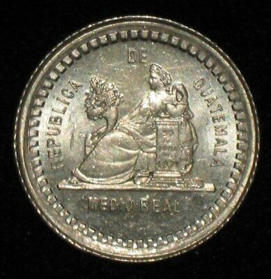 1880, 1/2 Real from Guatemala.  No Reserve!