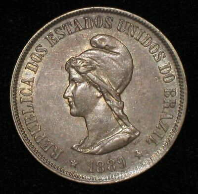 1889, 500 Reis from Brazil.  No Reserve!