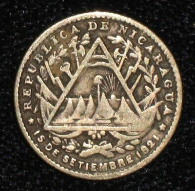 1887, 5 Centavos from Nicaragua.  No Reserve!