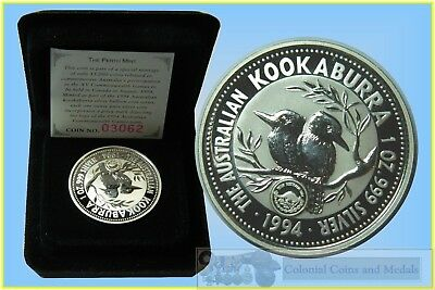 1994 Kookaburra $1 Silver Specimen with the XV Comm. Games Privy Mark