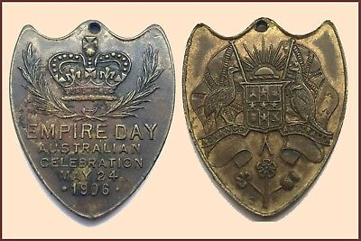 1906 Medallion issued to commemorate the Empire Day on May 24th