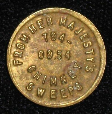 Brass Good Luck Token from Her Majesty's Chimney Sweeps.  No Reserve!